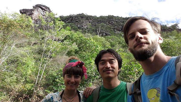 Brezilya Chapata Diamantina'da BrezilyalıMauricio ve Koreli Kim ile birlikte
