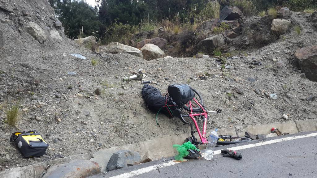Güney Amerika'da bisiklet kazası