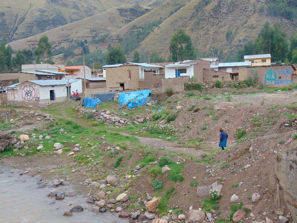 Cusco yakınlarında bir köy