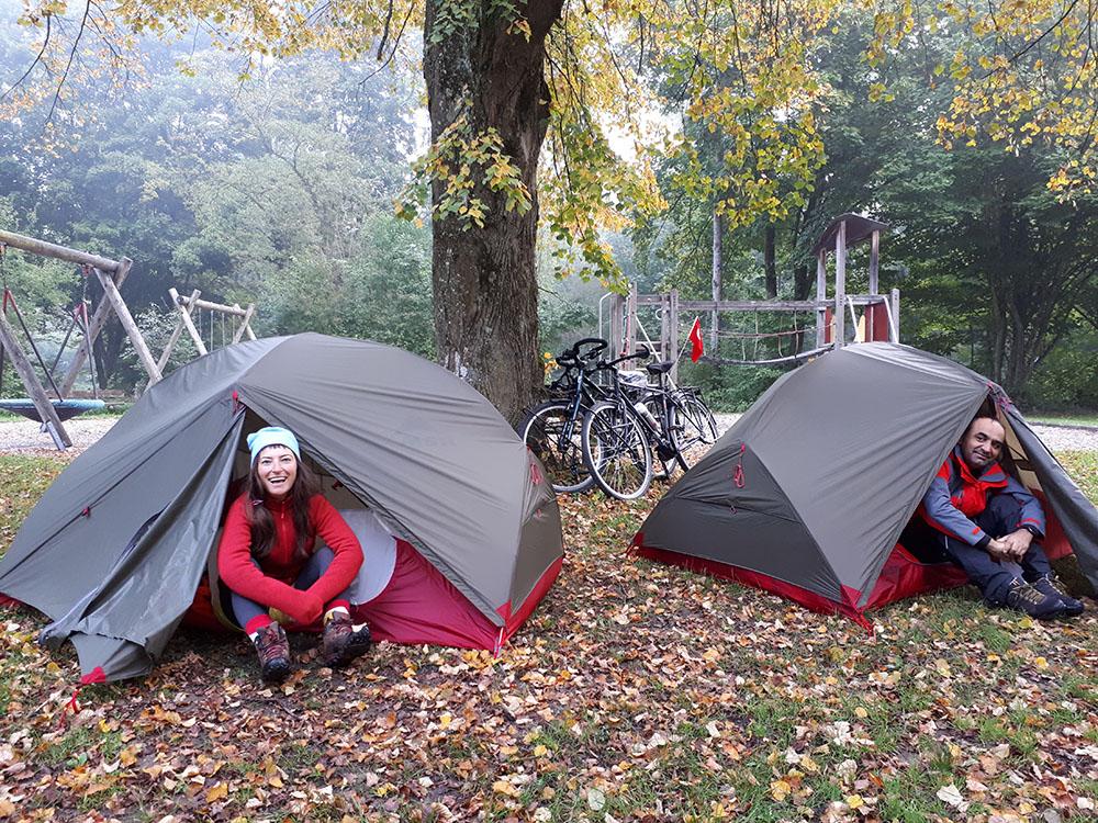 Mozart bisiklet rotasında ilk gece Almanya'da kamp attığımız cennet
