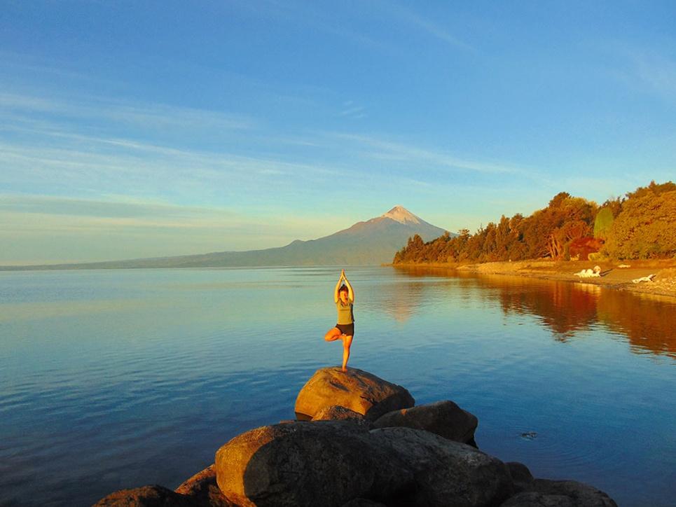Şili Osorno Dağı ve Llanquihue Gölü