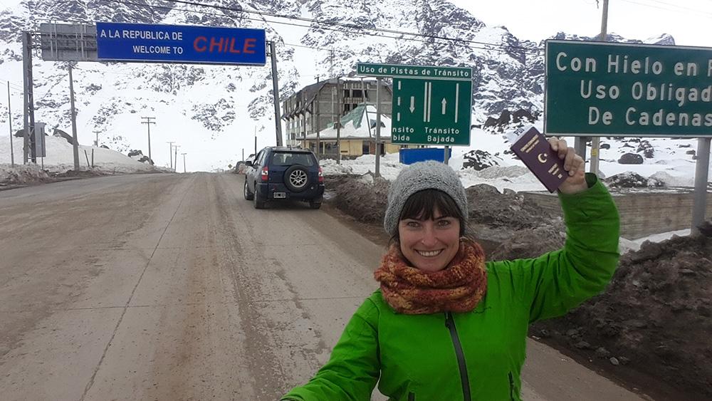 Şili-Arajntin arasında sınır geçişi
